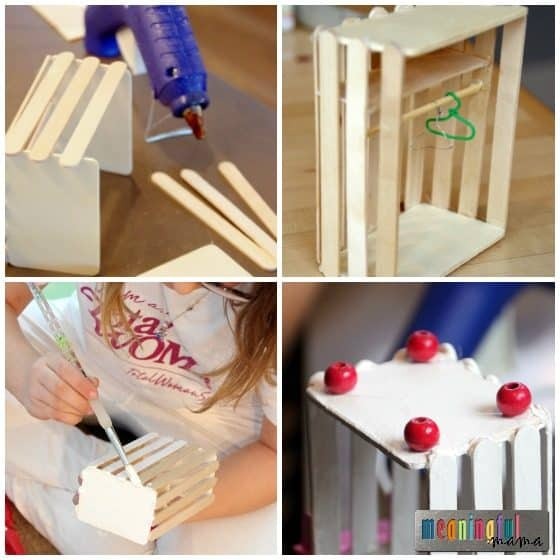 homemade barbie furniture ideas. DIY Dollhouse Furniture Armoire \u2013 Our Was Inspired By One We Found On Pinterest. I Always Like To Link Back The Original Source, But Couldn\u0027t Homemade Barbie Ideas