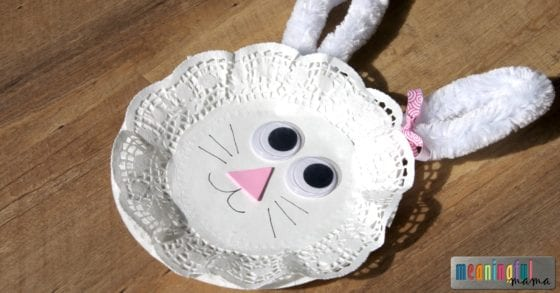 Hoping times of baking crafting and celebration bring you closer as a family this season. & Easter Bunny Paper Plate and Doily Craft for Kids