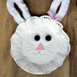 Easter Bunny Paper Plate and Doily Craft for Kids
