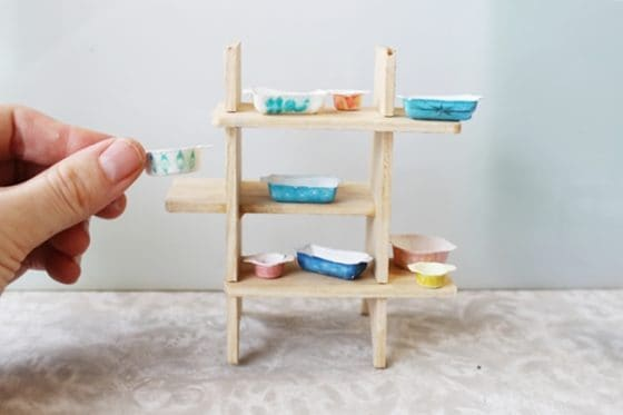 homemade dollhouse furniture. DIY Dollhouse Pyrex Dishes \u2013 You Will Be Amazed At Her Clever Solution For Making Dishes. Homemade Furniture H