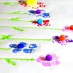 Egg Carton Flower Prints
