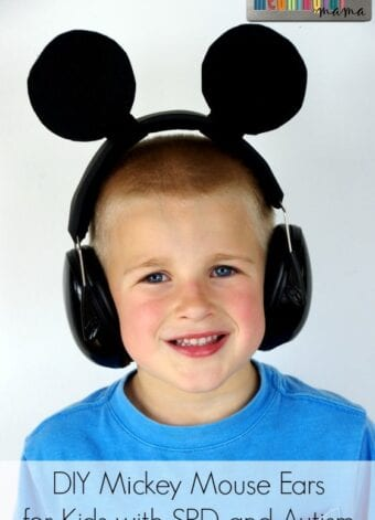 DIY Mouse Ears for Kids with SPD or Autism