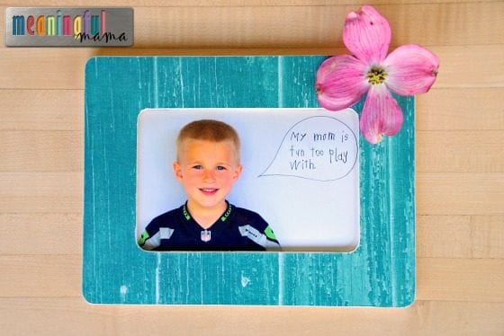 DIY Mother's Day Frames for Kindergarten Classroom Project