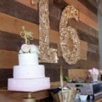 Quirky Pale Pink and Gold Sweet Sixteen Birthday Party