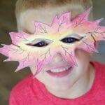 Harvest Leaf Masks for Kids