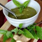 Red Thai Basil Pesto Sauce