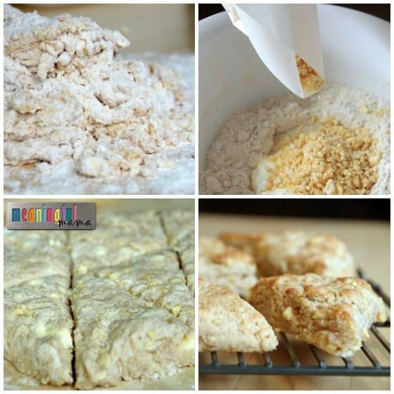 Cinnamon Sour Cream Scones with Pearl Sugar