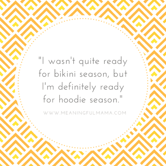 Quote about hoodie and bikini season Pumpkin Spice Glaze Recipe