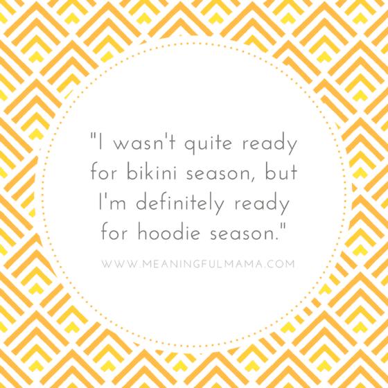 Quote about hoodie and bikini season Pumpkin Spice Glaze Recipe