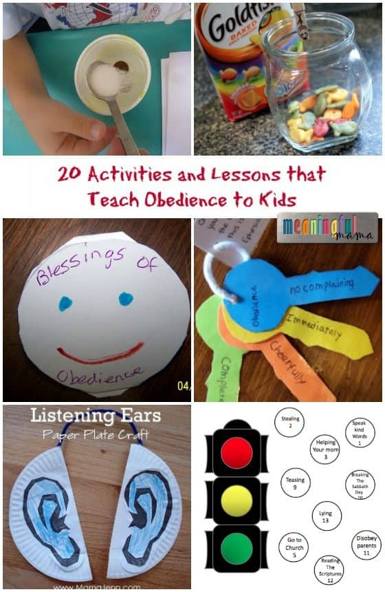 character building activities that teach obedience