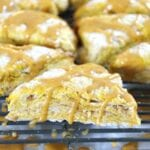 Pumpkin Scones with a Pumpkin Spice Glaze