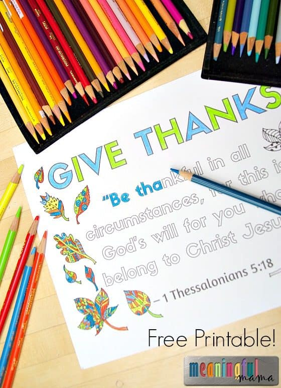 Christian Thanksgiving Coloring Sheet