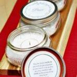 "DIY Modern Advent ""Wreath"" with Mason Jars"