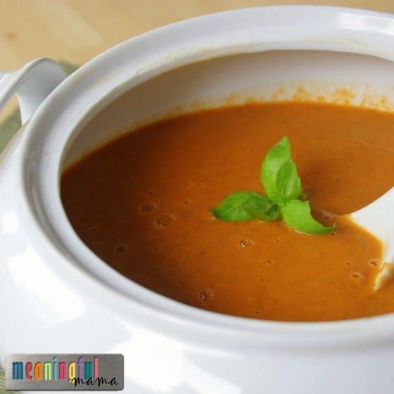 Low FODMAP Roasted Tomato Basil Bisque