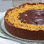 Chocolate Walnut Salted Caramel Torte