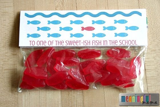 Swedish Fish Valentine Printable