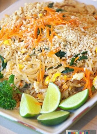 Pad Thai Recipe with Chicken or Shrimp