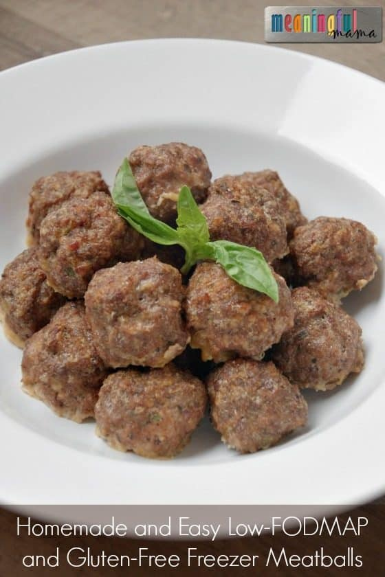 Homemade and Easy Low-FODMAP and Gluten-Free Freezer Meatballs