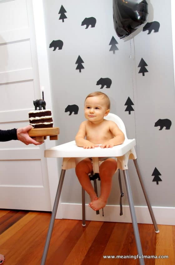 Modern Black Bear First Birthday Party