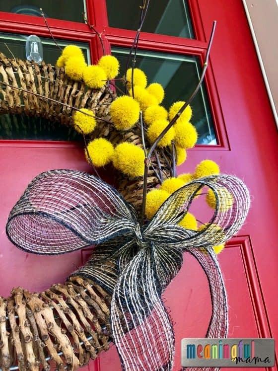 Easy DIY Modern Fall Wreath