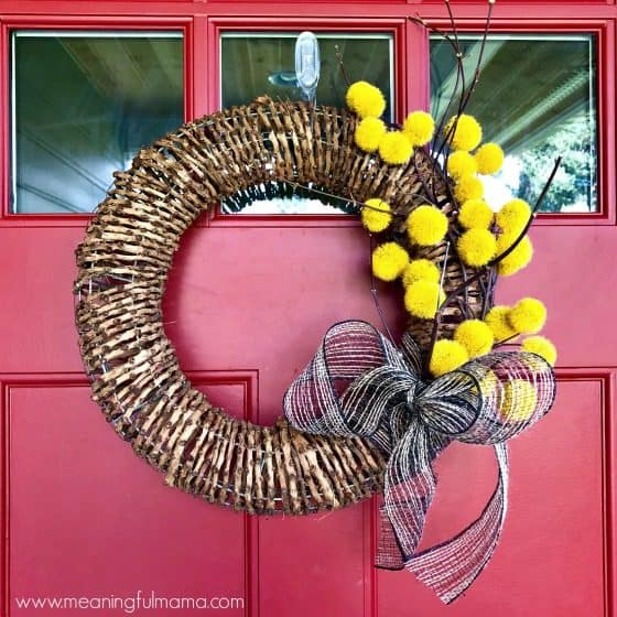 Easy DIY Modern Fall Wreath