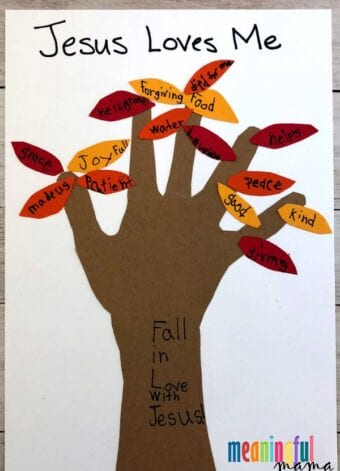 Fall Handprint Sunday School Craft for Kids