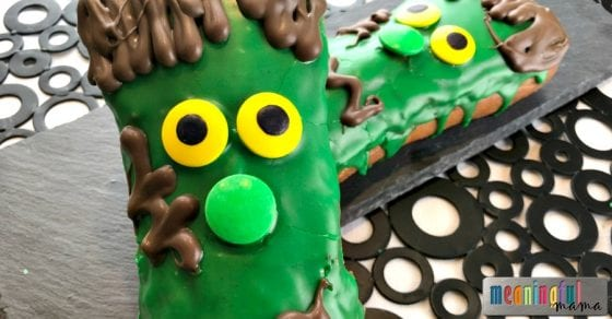 Halloween Frankenstein Monster Donuts