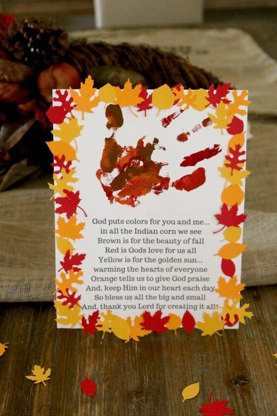 Christian Handprint Fall Craft