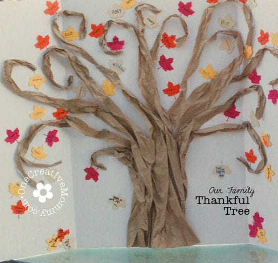 Sunday School Thankful Tree Idea