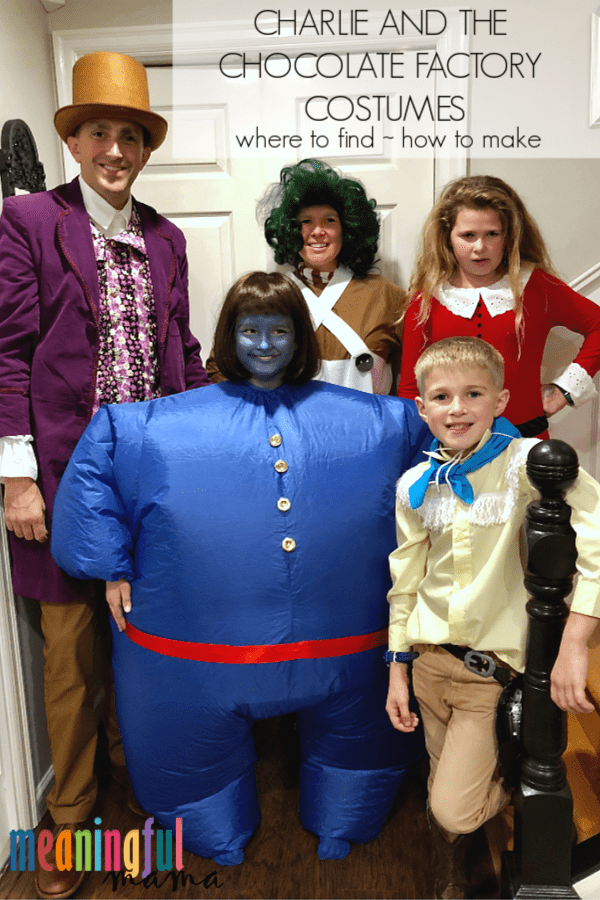 The Original Charlie And The Chocolate Factory Diy Family Halloween