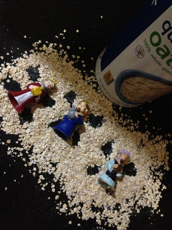 wandering wise men make oatmeal angels