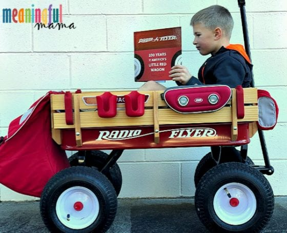 Boy in Radio Flyer Wagon - Creating Legacy