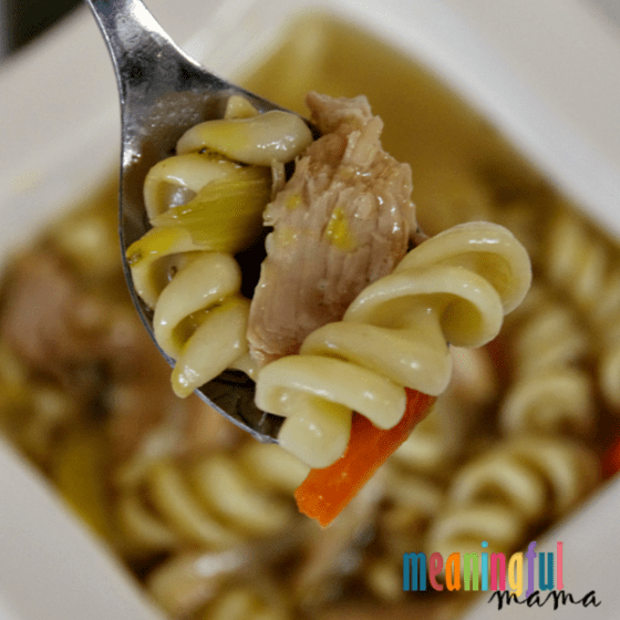 Spoon Homemade Leftover Turkey Noodle Soup Recipe