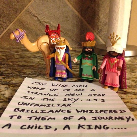 wandering wise men read note