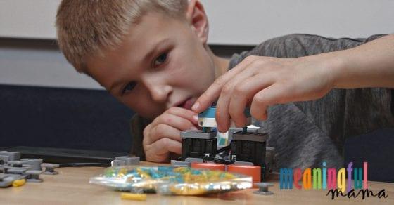 Child Building JIMU Robot