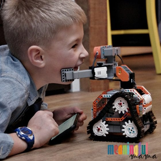 Child Receiving Hug from JIMU Robot