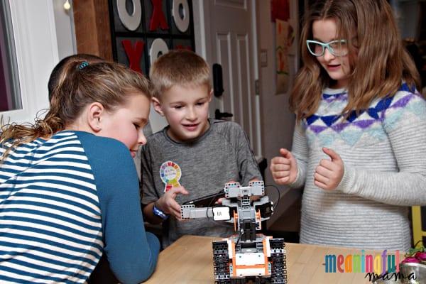 Children Playing with JIMU Robot