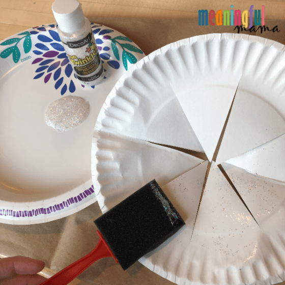 Decorating a paper plate crown