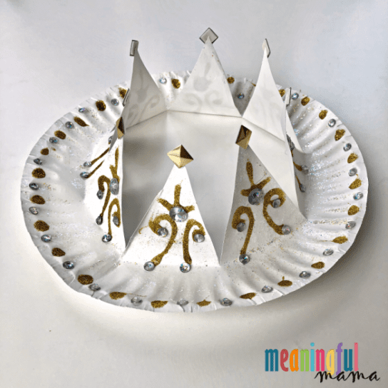 Decorative Paper Plate Crown