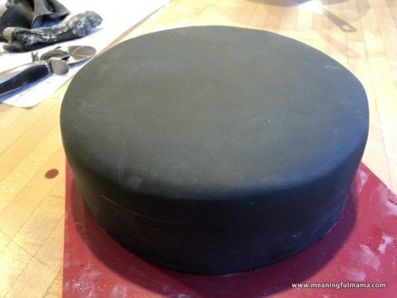 Black Fondant Cake Covering