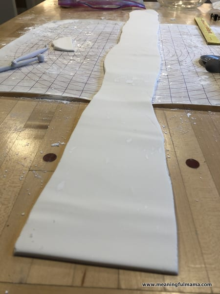Rolling out a Long Piece of Fondant