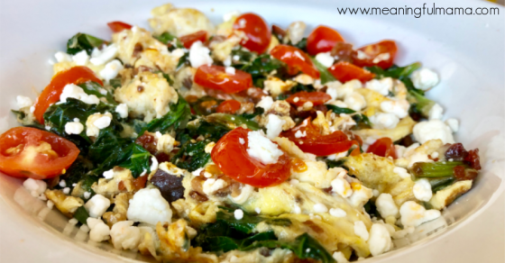 Healthy Breakfast Recipe with Mixed Greens