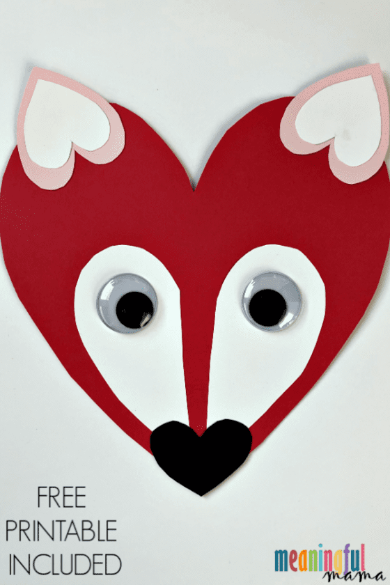 Fox Craft for Valentine's Day