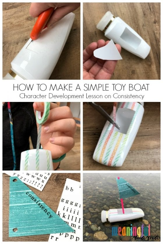 How to Make a Simple Boat to Teach Kids Consistency