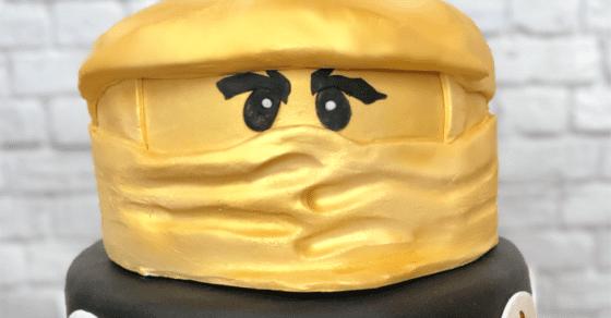 Golden Ninja LEGO Ninjago Cake