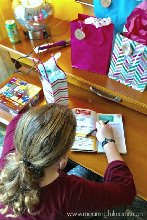 Girl Working in Passport 2 Purity Journal