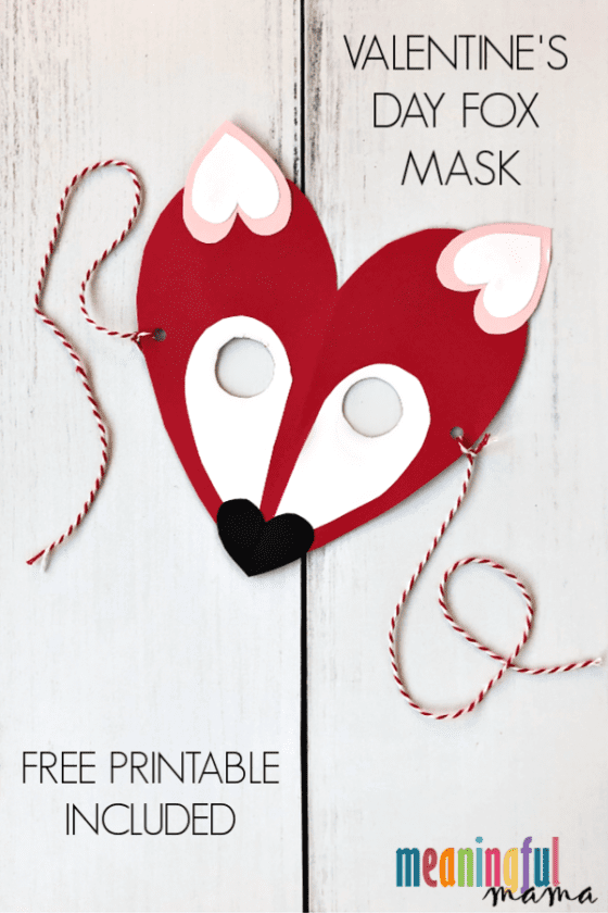 Valentine's Day Fox Mask Craft for Kids