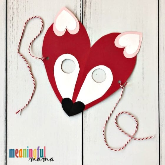 Fox Valentine's Day Craft Made from Hearts