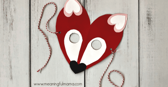 Valentine's Day Fox Heart Mask