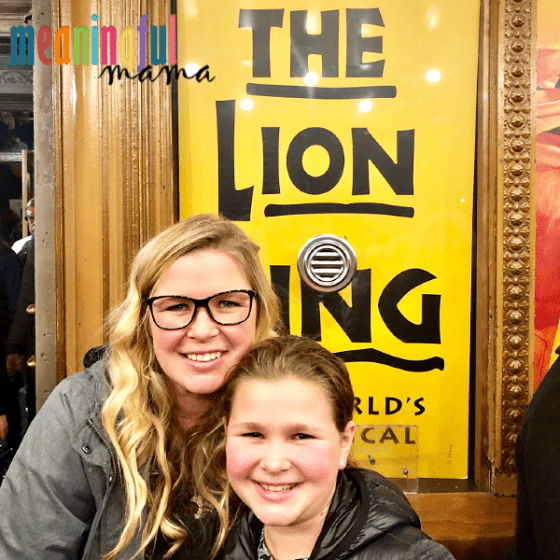 Mom and Daughter at the Lion King in Seattle
